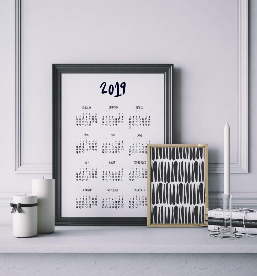 I Try DIY | 2019 Calendar