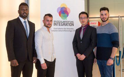 """Stipendiaten des Programms """"Geh deinen Weg"""" der Deutschlandstiftung Integration treffen sich regelmäßig zum Erfahrungsaustausch."""