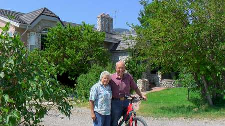 Sprituality and Health. David W. Allan with his wife, Edna at Solar Home.