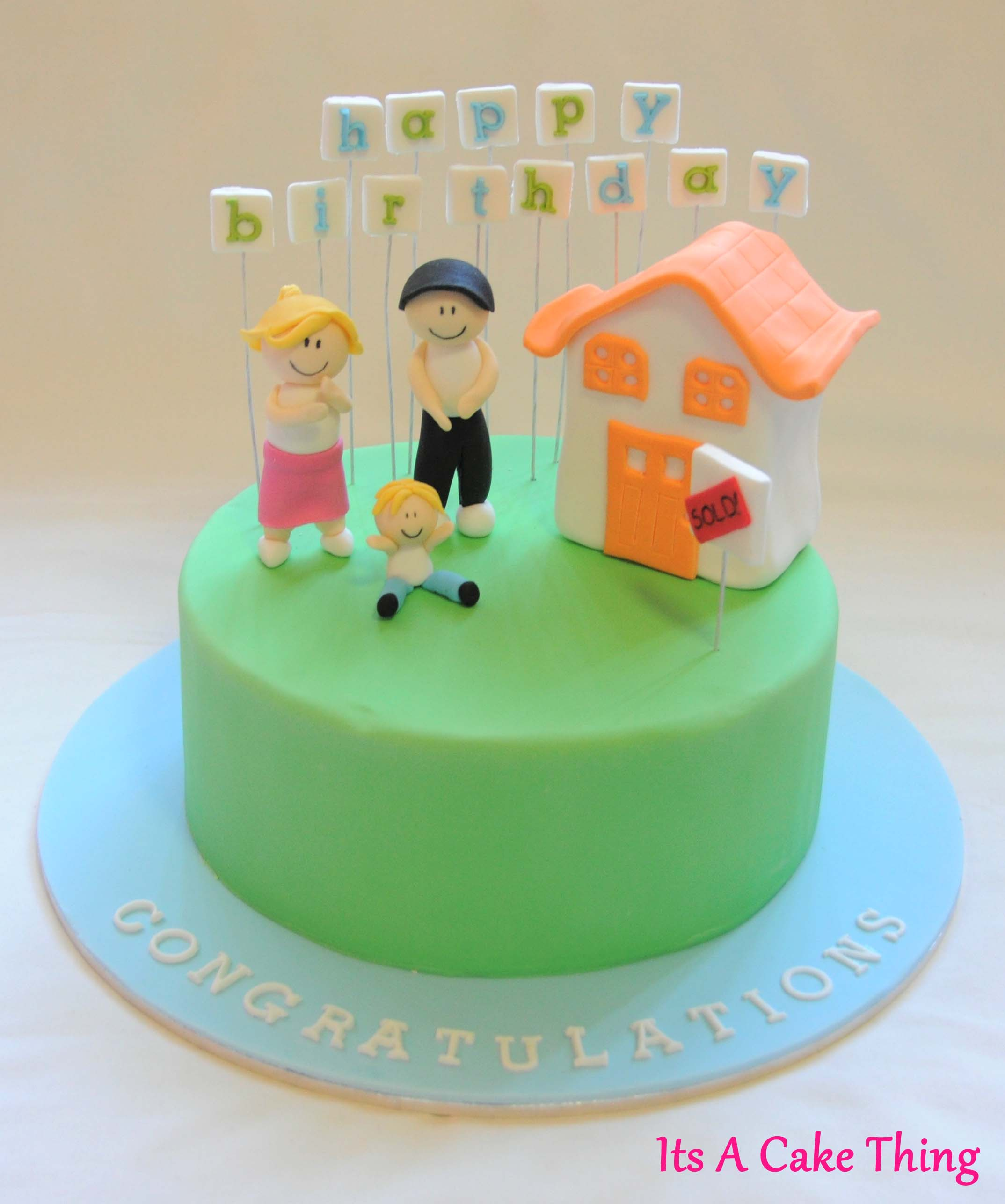 Double Celebration House Warming Birthday Cake
