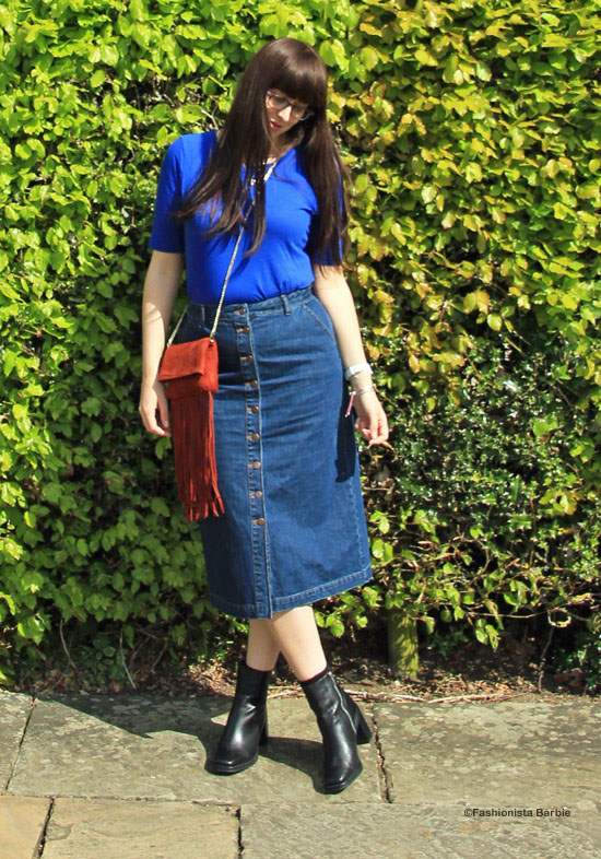 denim skirt, style, fashion, day trip, longleat