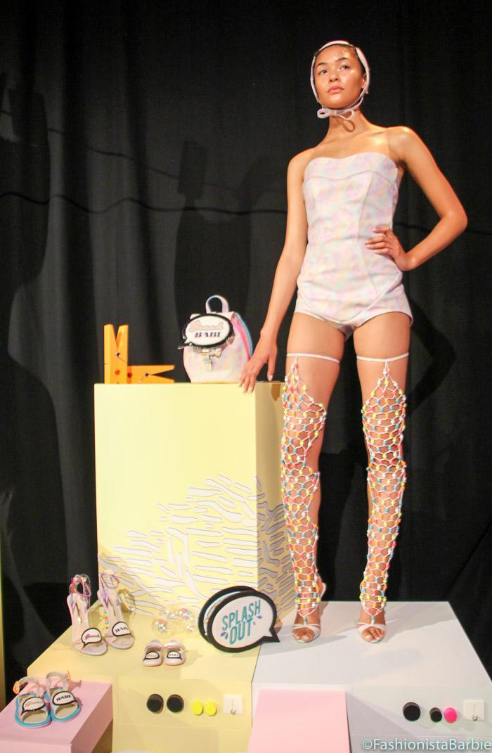 sophia webster, Mermaid Launderette, ss16, spring summer 2016, lfw, london fashion week, london, fashion, catwalk, presentation, footwear, bags, handbags, clutch, designer, british design,