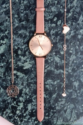 Mococo, rose gold, jewellery, Thomas Sabo, Daisy London, Daisy Jewellery, Olivia Burton, Watch, Bracelet, Necklace, Fashionista Barbie, Fashion, How To Style Rose Gold