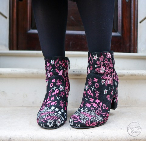 Floral Boots, Ego, Boots, Styling Floral Boots, How to Style Floral Boots, Tulle Skirt, Layering, Girl in Glasses, Fashion Blogger, Style Blogger, What Fashionista Barbie Wears