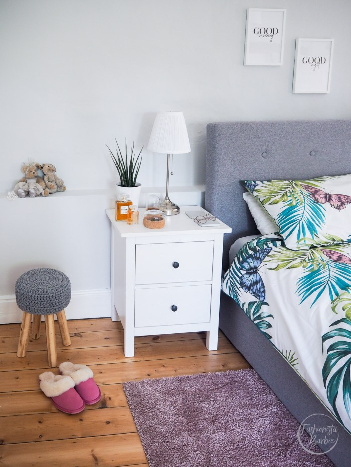 Desenio, Wall Gallery, Bedroom, Master Bedroom, Decor, Home Interiors, Home Renovations, Listed Building, Fashionista Barbie, Home Blogger, Interior Blogger, Interiors, Botanical Bedroom, Bed, Artwork, Wall Gallery, White Furniture, Grey Bed