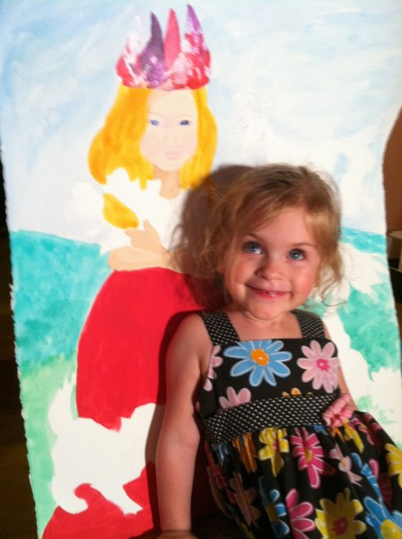 Tiny-Small and her princess painting.
