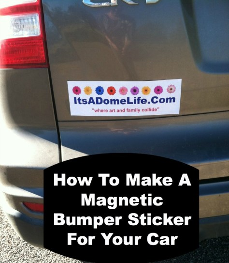 Magnetic Backing For Bumper Stickers