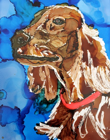 Irish Setter Day 16 Of 30 Paintings In 30 Days