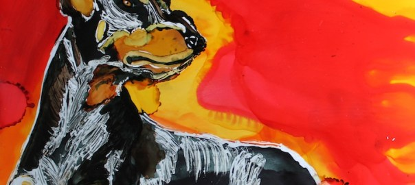 Doberman Pinscher Day 20 Of 30 Paintings In 30 Days