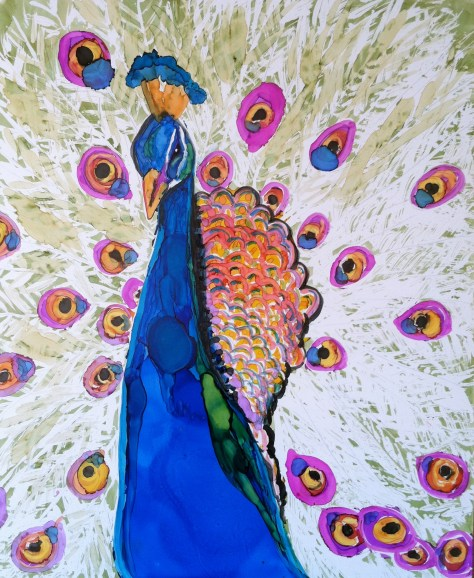 My Peacock Painting Is In A Video