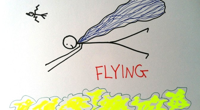 Stickman Drawing Challenge Day 4: Flying