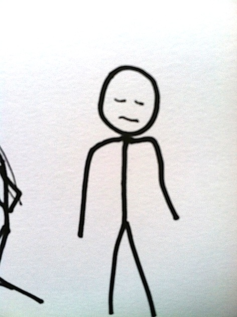 Stickman Drawing Challenge Day 7: Sad