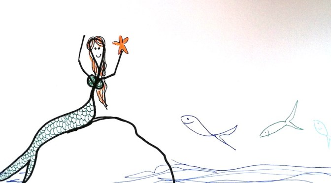 Stickman Drawing Challenge Day 14: Mermaid