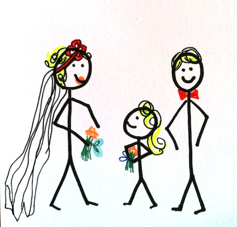 Stickman Challenge Drawing Day 12: Getting Married