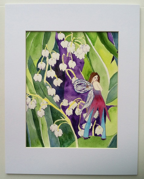 Lily of The Valley Fairy Print