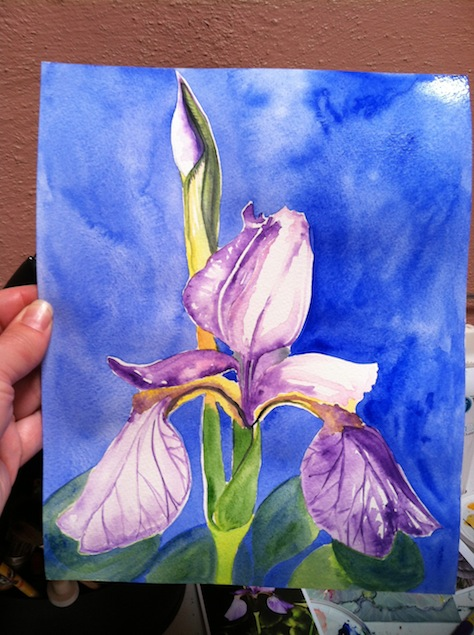 I Painted An Iris But Dislike The Composition