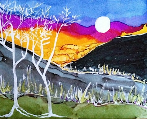 Desert Moonscape Day 18 Of 30 Paintings In 30 Days