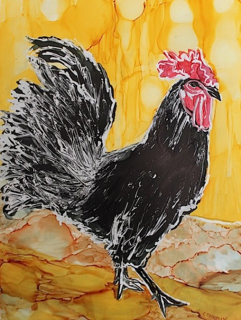 Rooster Rules The Roost Day 29 of 30 Paintings In 30 Days
