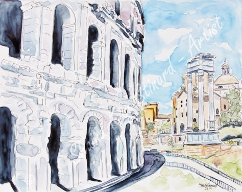 Last Days In Rome By Artist Shaina Stinard featured on Art Wednesday