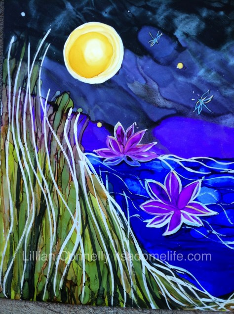 Close up of Water Lilies by Lillian Connelly.