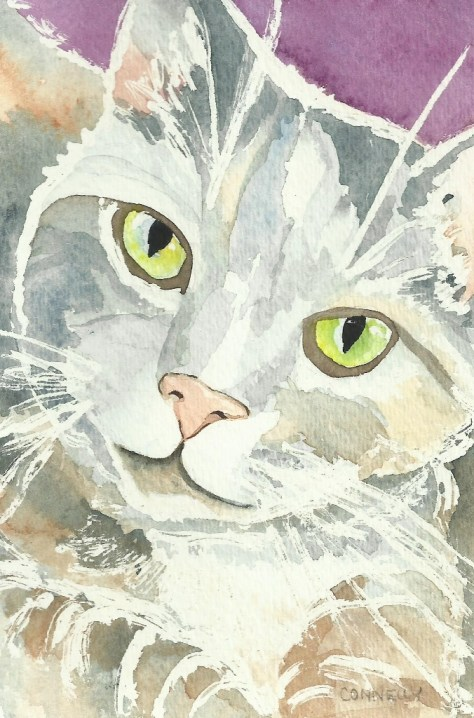 Cats In Watercolor Day 5 September 2016
