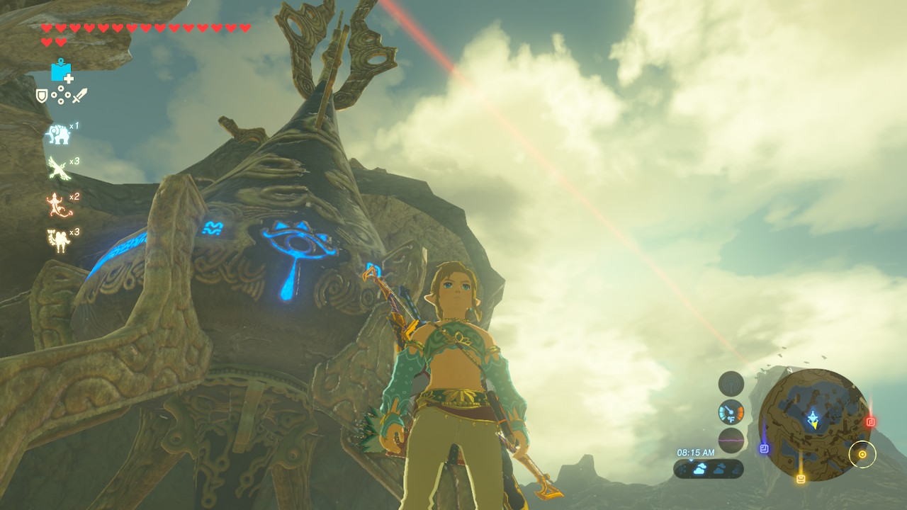 link in his gerudo crop top ready to save the world