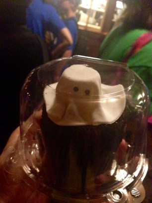 Ghost Cupcake from Gaston's Tavern in New Fantasyland