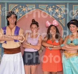 Meeting Aladdin and Jasmine.