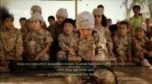 Boy in training to kill for Allah