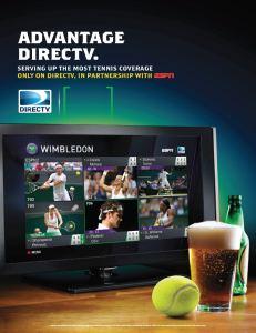 DIRECTV MVP Marketing Tennis Poster