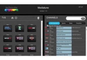 Technicolor MediaTune Com1000 User Interface
