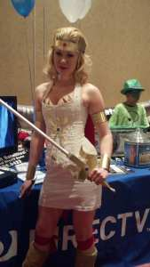Cosplay character at DIRECTV booth at Albuquerque Comic Con