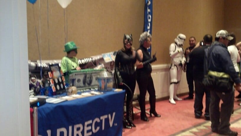 The Its All About Satellites  DIRECTV booth at Albuquerque Comic Con