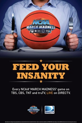 NCAA March Madness Marketing Kits : Poster for Bars & Restaurants  from DIRECTV