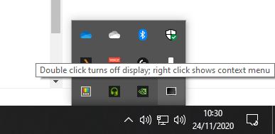 display power off shortcut