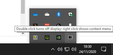 Display Power Off Utility - System tray icon