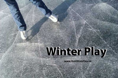 Winter Play Activities for Kids Play--picture of child skating