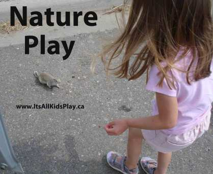 Nature Free Play for Kids --girl with gopher
