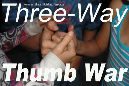 A three-way thumb war