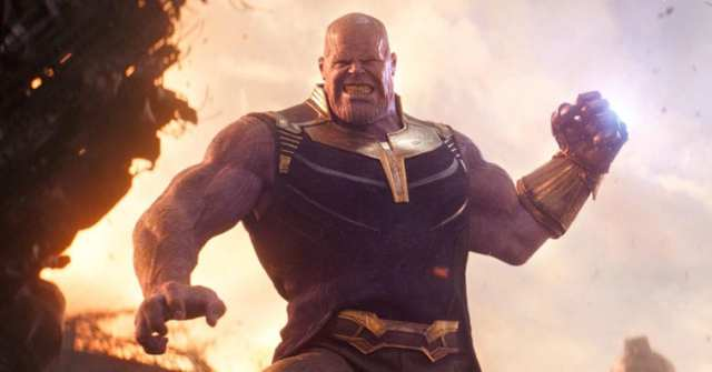 Thanos throwing a moon in Avengers: Infinity War (2018)