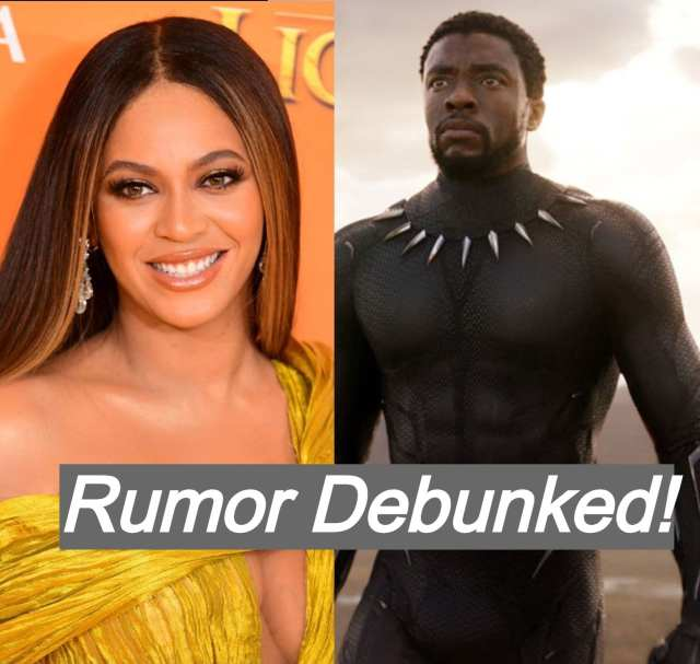 Rumor that Beyonce was in talks to appear in Black Panther 2 has been debunked