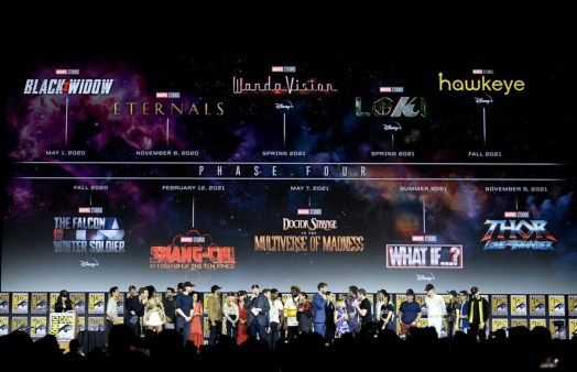 Marvel Studios Phase slate being presented at San Diego Comic-Con in 2019