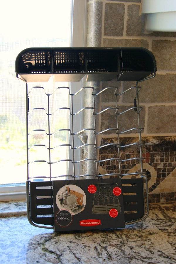 Make Counter Beautiful With Rubbermaid Dish Rack