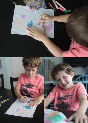 drawings easy fun circle circles colored
