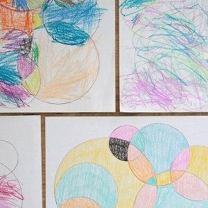 drawings circle easy circles fun