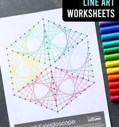 Geometric Line Art Worksheets {easy art project for kids!} - It's Always  Autumn [ 1800 x 1200 Pixel ]