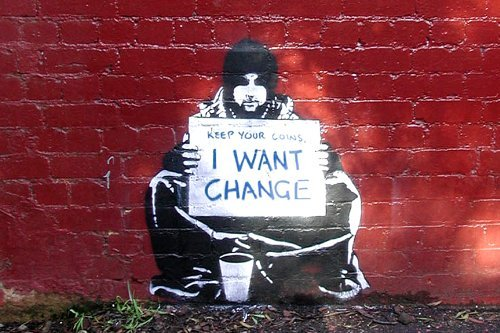 Banksy Keep Coins Want Change Image