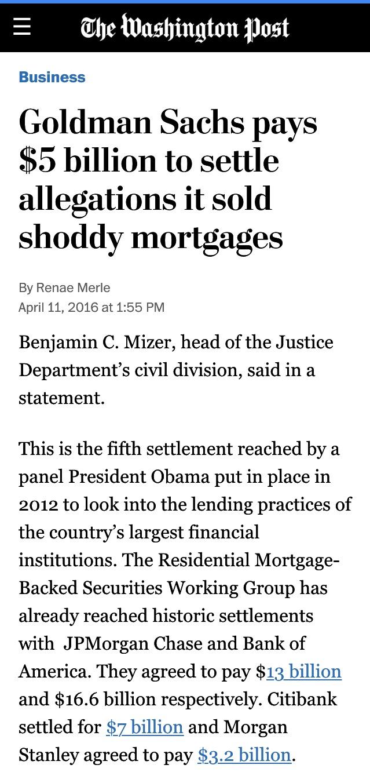 Goldman Sachs Washington Post Headline