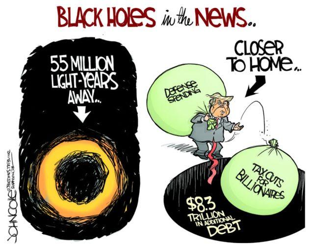 John Cole Black Hole Trump Tax Cuts
