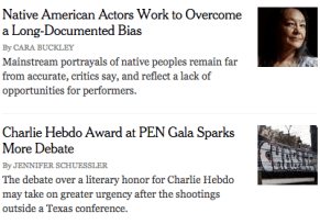 The New York Times/The Arts (May 5, 2015).